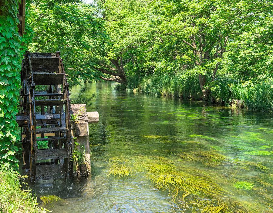 景觀與水車 イメージ写真