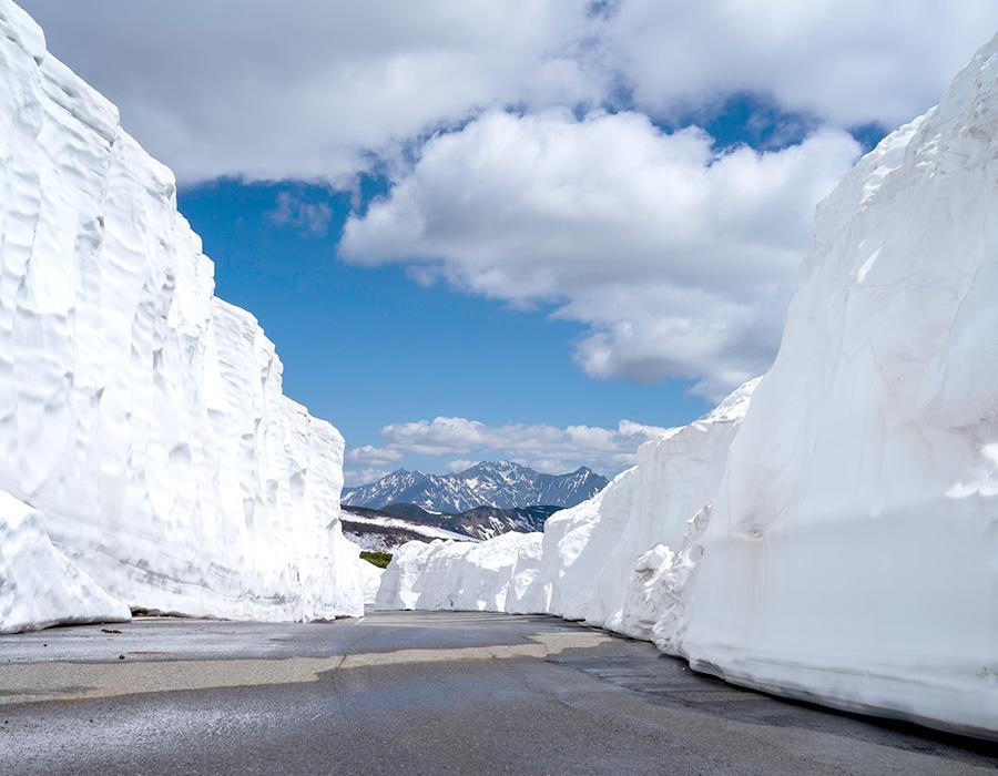 雪の回廊(乗鞍高原) イメージ写真